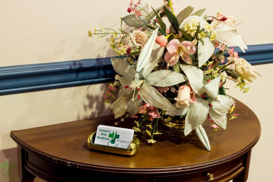 Business Card & Flowers