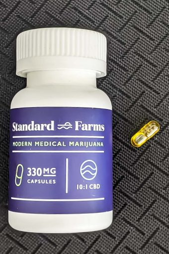 Standard Farms marijuana capsules.